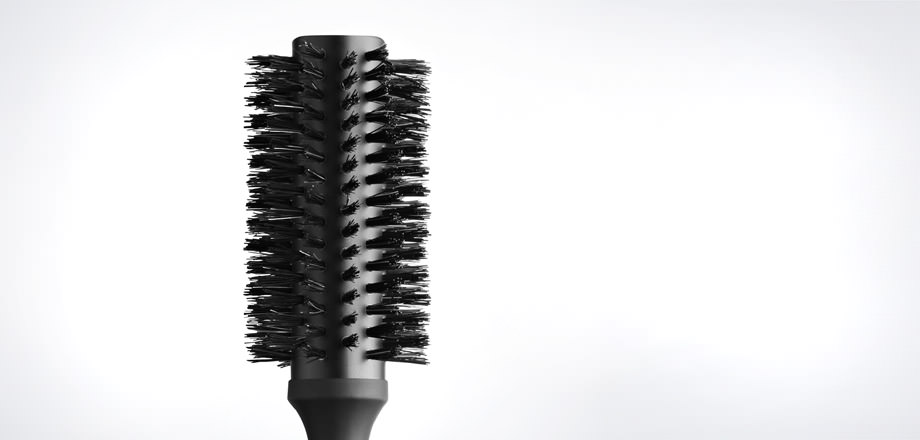 natural bristle radial brush size 1 2